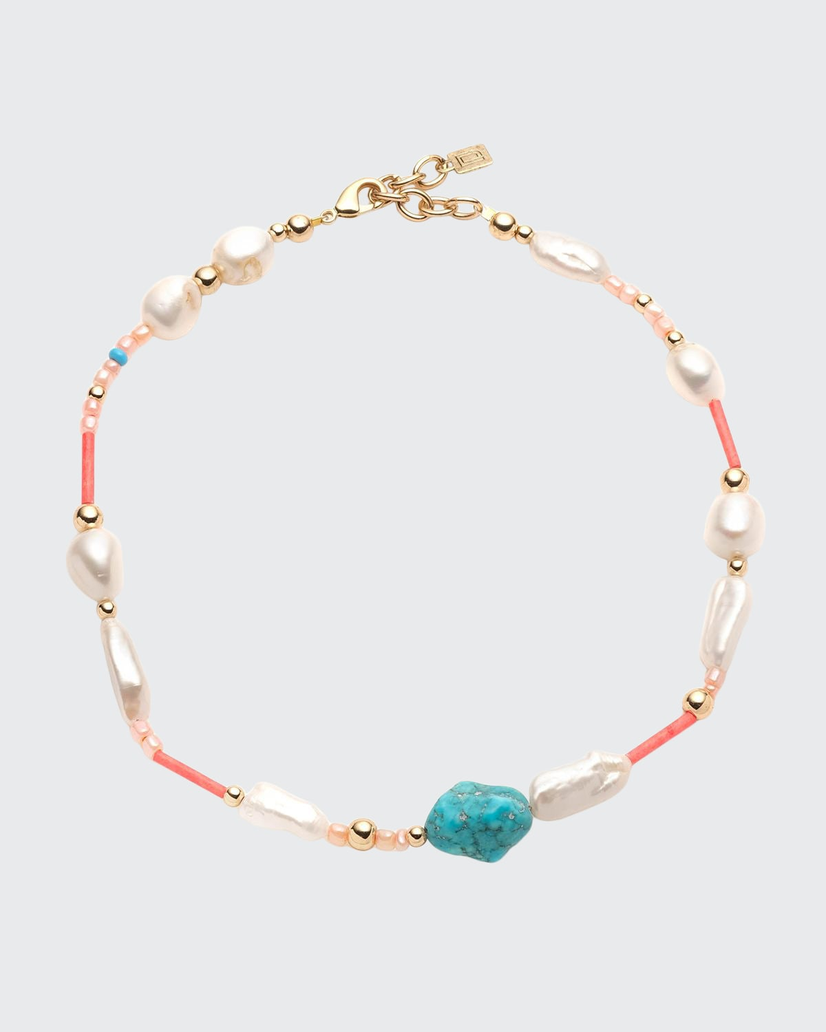 Streisand Bead and Pearl Necklace