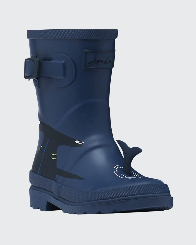 Shark Rain Boots w/ 3D Fin