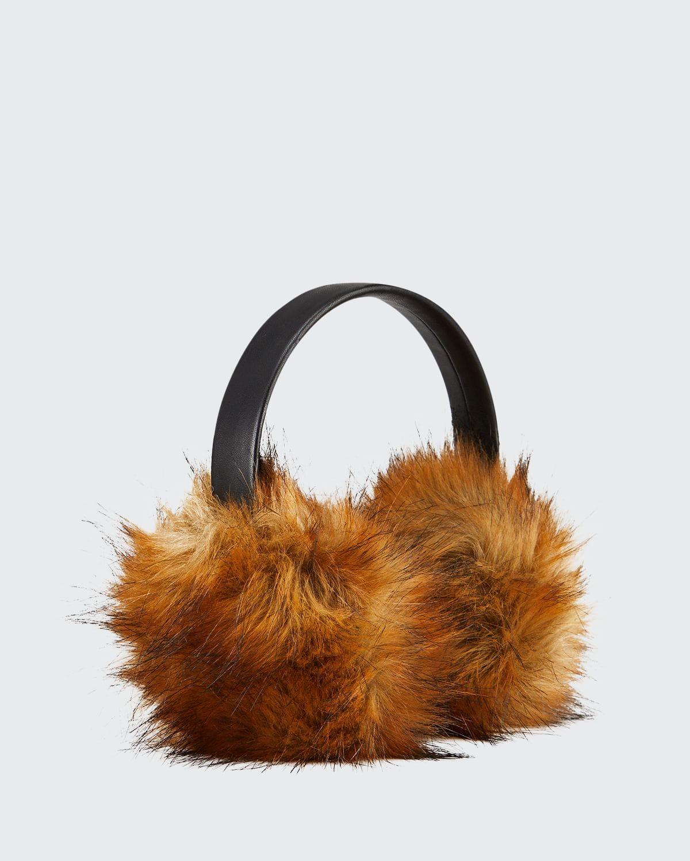 Faux Fur & Faux Leather Earmuffs