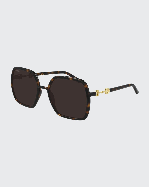 Oversized Geometric Injected Plastic Sunglasses