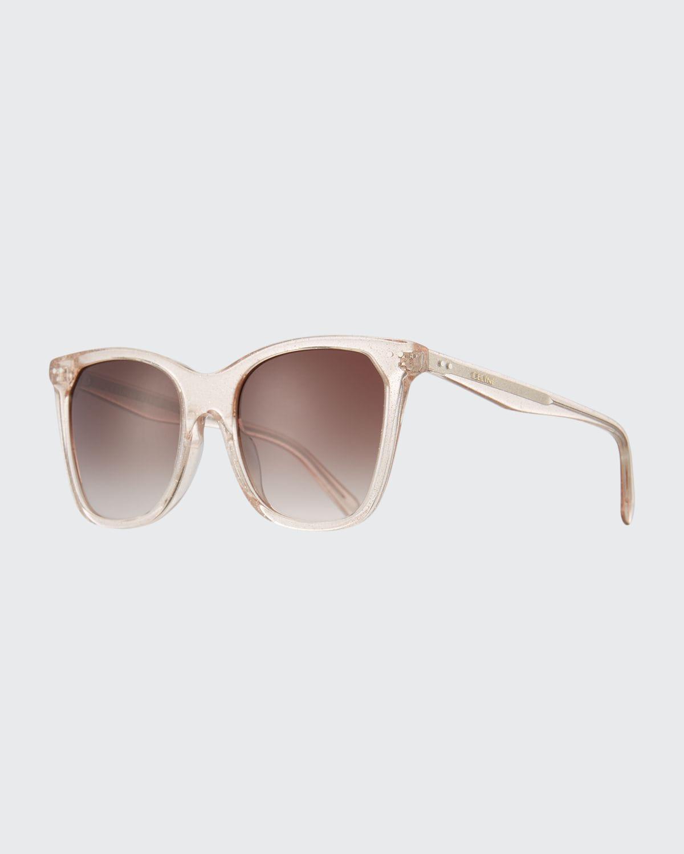 Cat-Eye Monochromatic Acetate Sunglasses