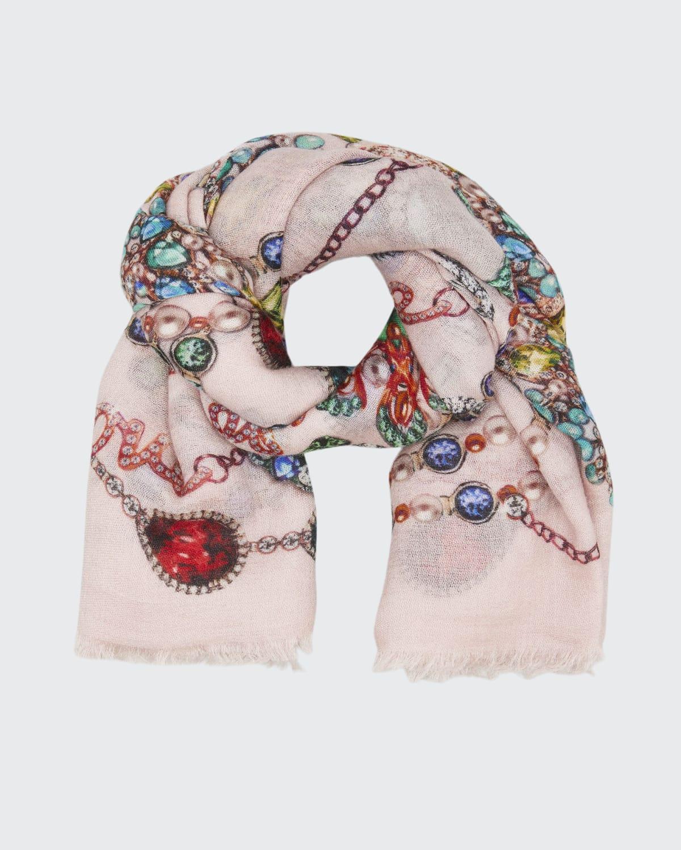 Euclid Jewelry-Print Cashmere Shawl