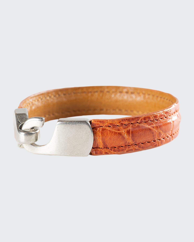 Men's Alligator Leather Bracelet