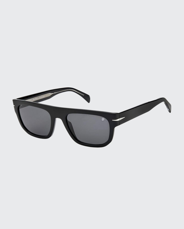 Men's Gradient Square Flat-Top Sunglasses
