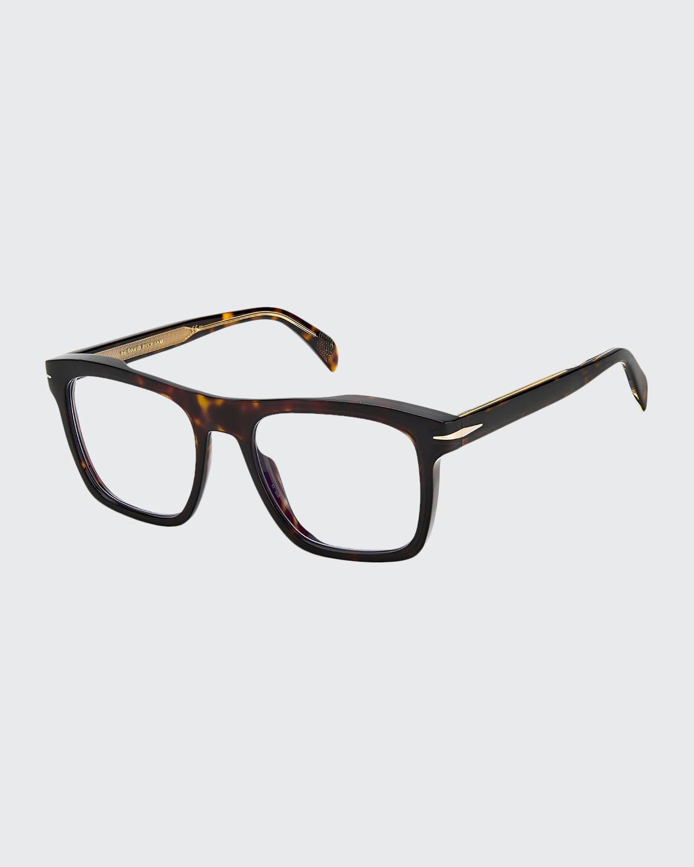 Men's Square Havana Acetate Optical Frames