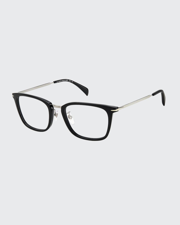 Men's Square Acetate/Metal Optical Frames
