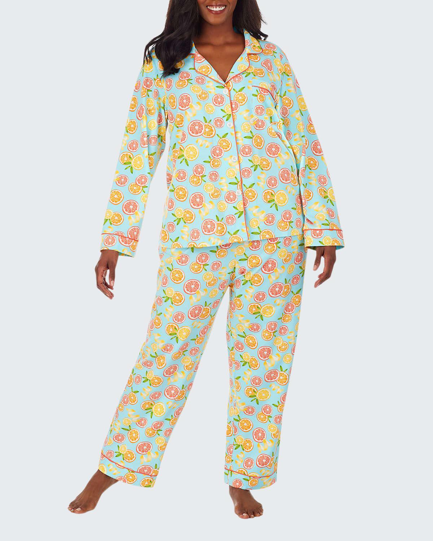 Citrus Grove Classic Long-Sleeve Pajama Set