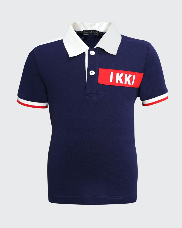 Boy's Logo Short-Sleeve Polo Shirt