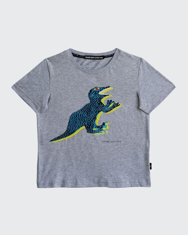 Boy's Dinosaur-Print Tee