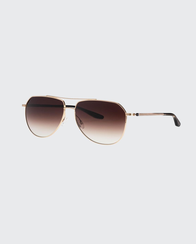 Men's Voltaire Gradient Double-Bridge Aviator Sunglasses