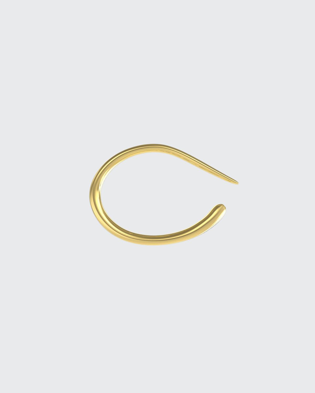 Staple Cuff Tapered Band Cuff In 18K Gold Vermeil