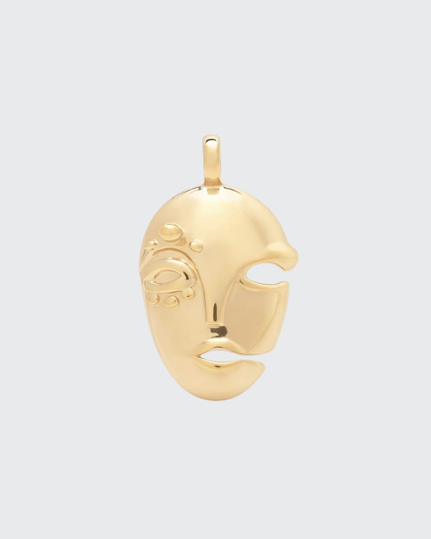 Mask Pendant in 18K Gold Vermeil