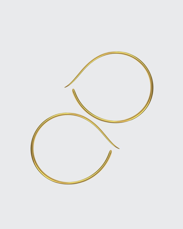 Layana Forward Facing Hoops 18K Gold Vermeil Hoops with Post Back