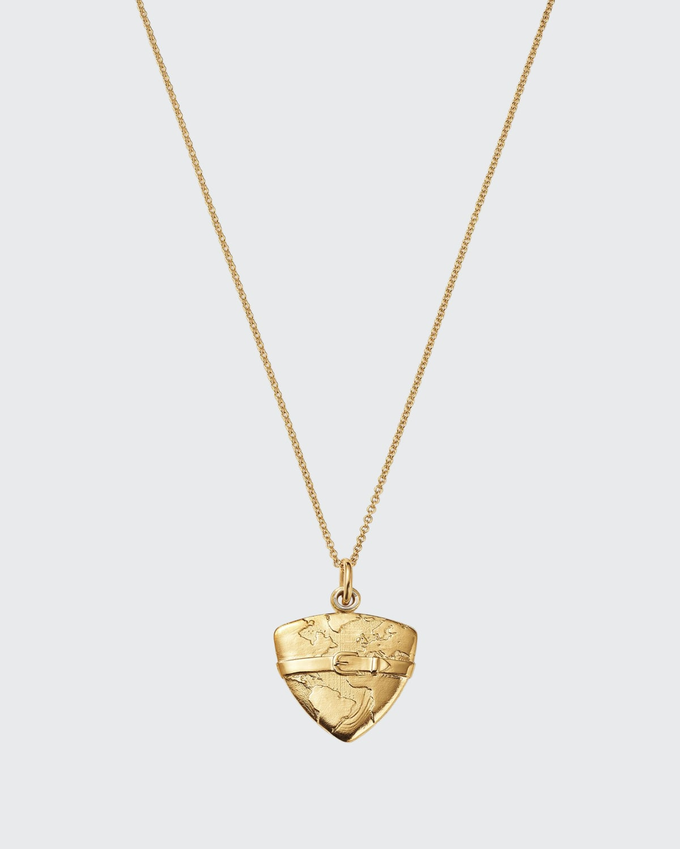 18k Gold Love Locket Pendant Necklace