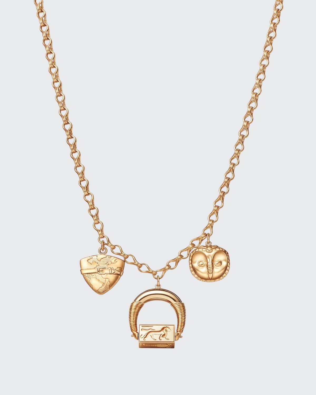 18k Gold Amulet Pendant Necklace
