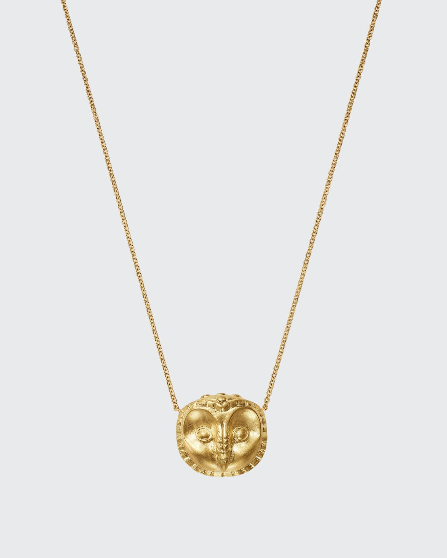 18k Gold Ibis Pendant Necklace