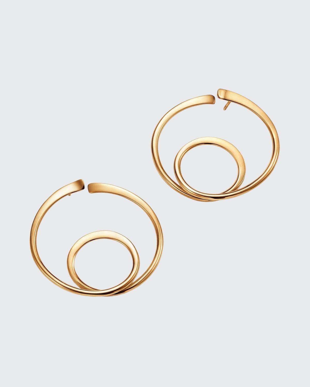 18k Orbit Hoop Earrings