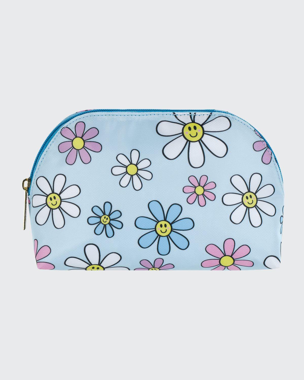 Girl's Daisy-Print Oval Cosmetic Bag