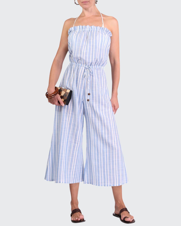 Blaire Rodanthe Striped Coverup Jumpsuit