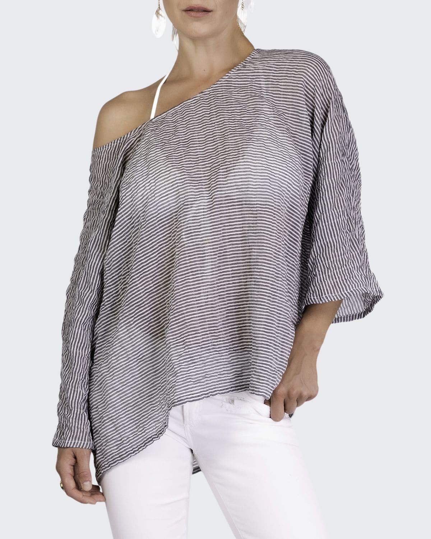 Leah Vineyard Stripe Coverup Top