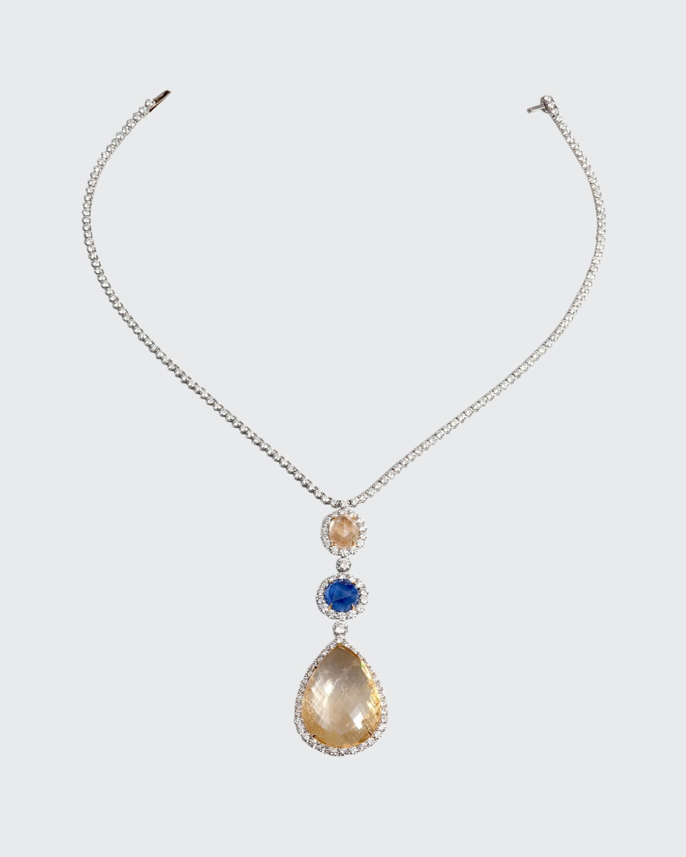 Briolette Sapphire & Diamond Necklace