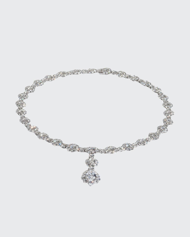 Diamond Cluster Y-Drop Necklace