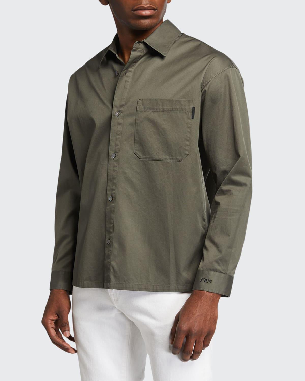 Men's Relaxed Cotton Sport Shirt