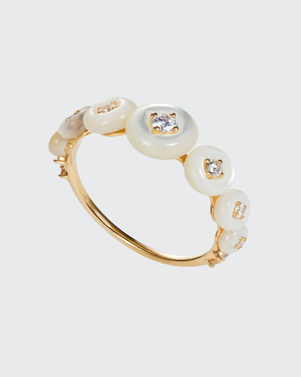 Surrounding Small Ring with Mother-of-Pearl