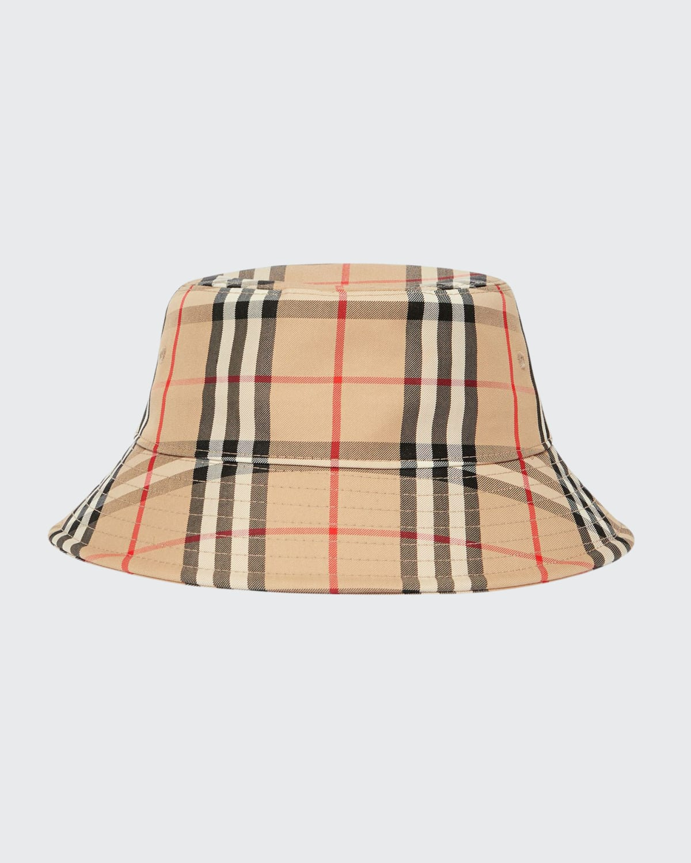 Check-Print Twill Bucket Hat