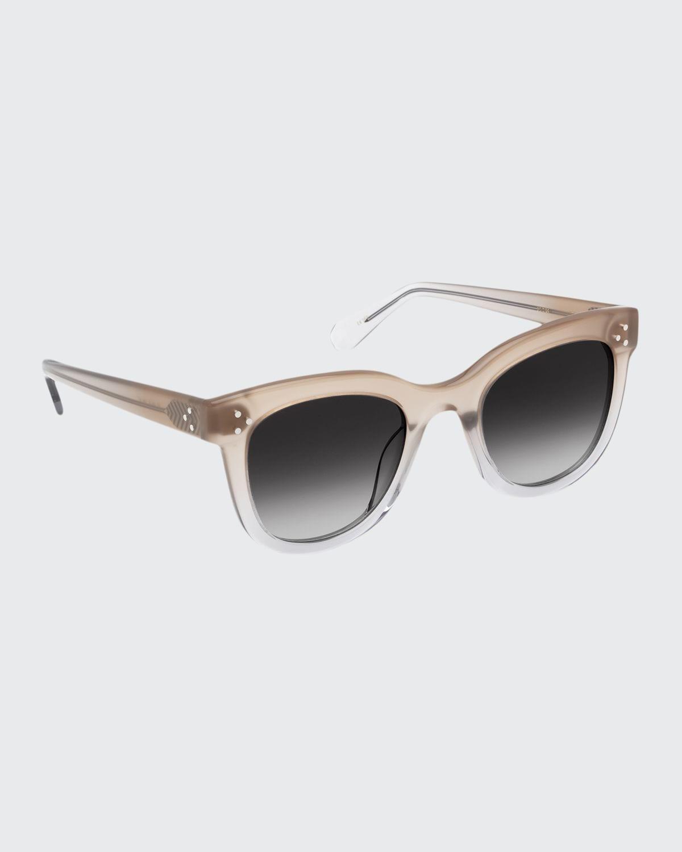Jena Cat-Eye Transparent Acetate Sunglasses