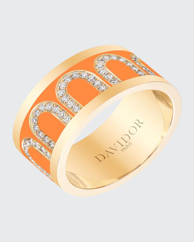 Ring in Zeste Ceramic and Diamonds