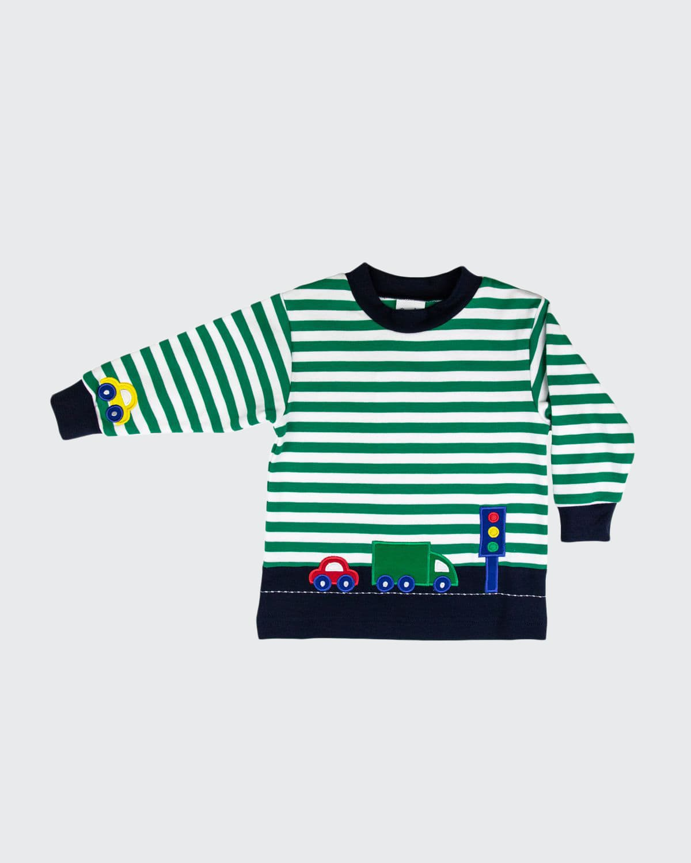 Boy's Striped Vehicle Shirt