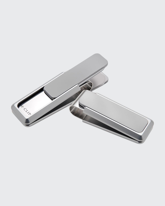 Aluminum-Inlay Stainless Steel Money Clip