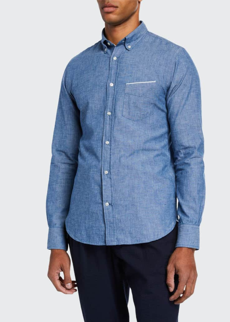 Men's Chambray Sport Shirt