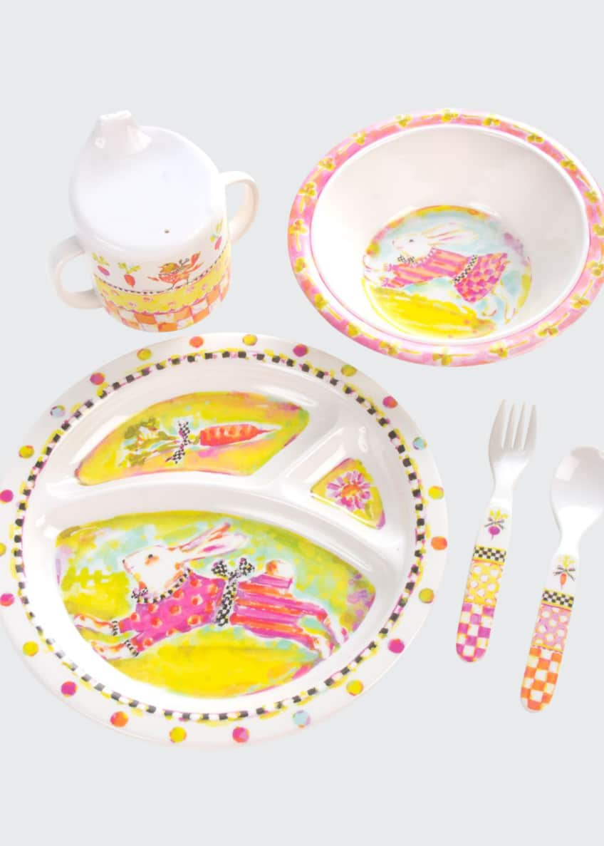 Image 1 of 1: Toddlers' Bunny Dinnerware Set