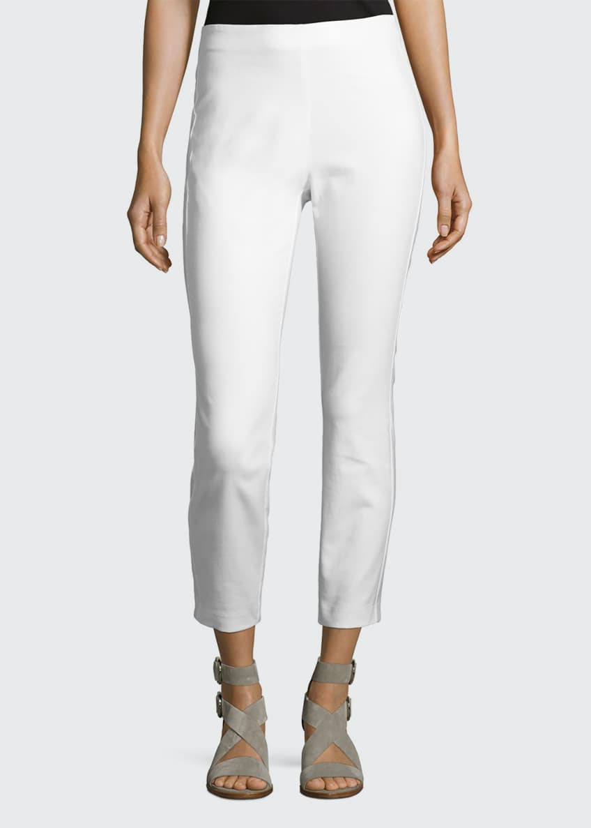 Image 1 of 3: Simone Cropped Skinny Pants, White