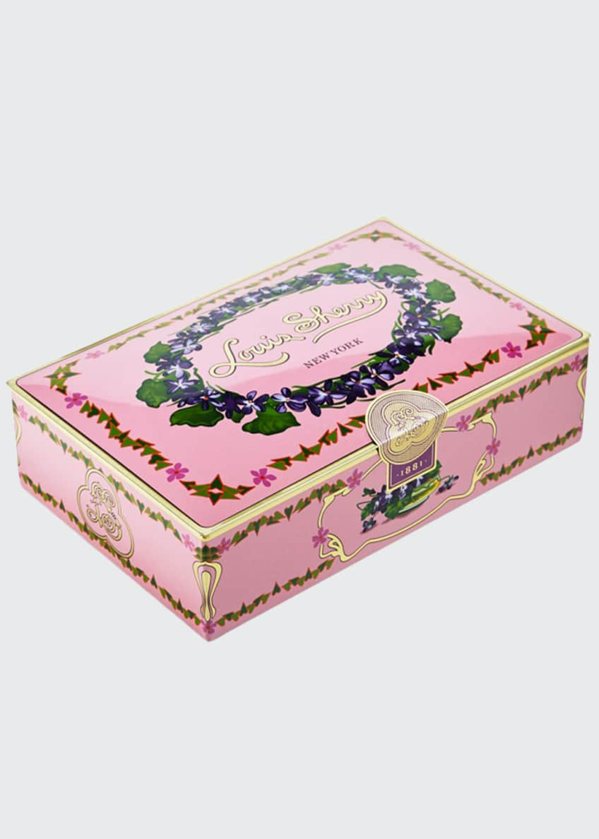 Image 1 of 1: Orchid 12-Piece Assorted Chocolate Truffle Tin