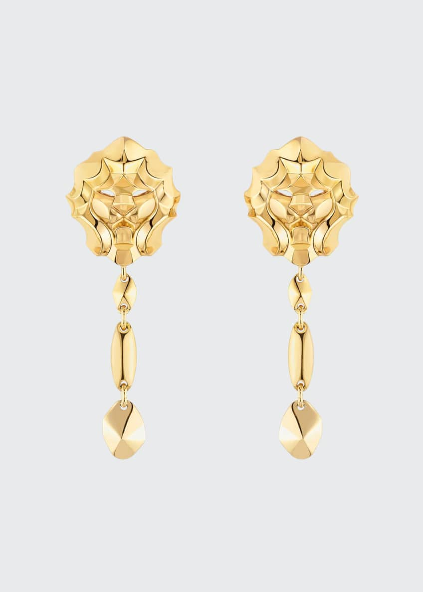Image 1 of 1: LION Earrings in 18K Yellow Gold