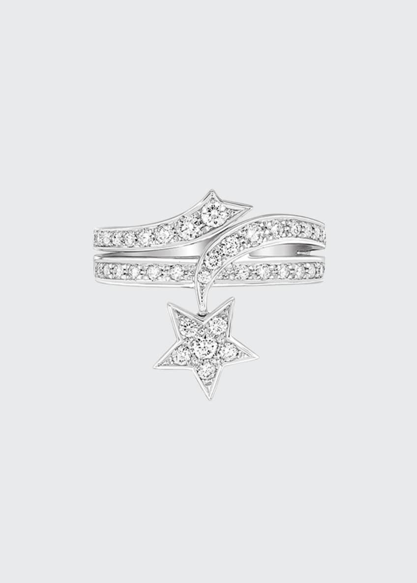 Image 1 of 1: COMÈTE Ring in 18K White Gold with Diamonds