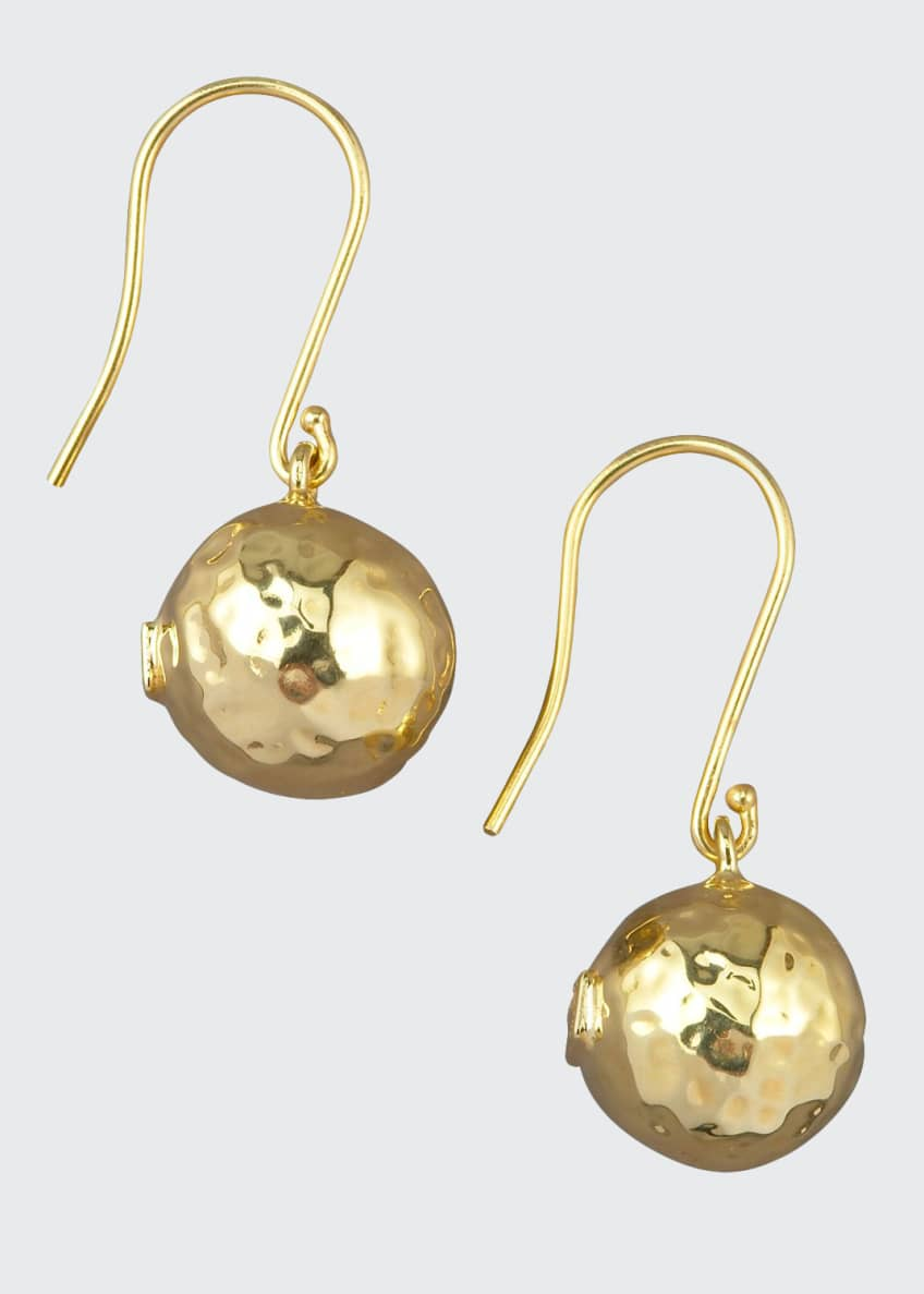 Image 1 of 1: Hammered Ball Earrings