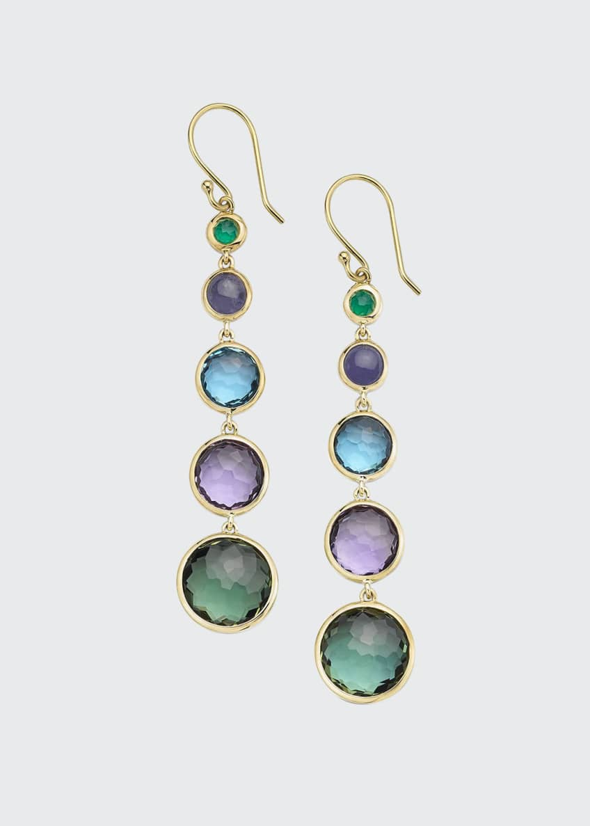 Image 1 of 1: 18k Gold Rock Candy Lollitini Earrings in Hologem