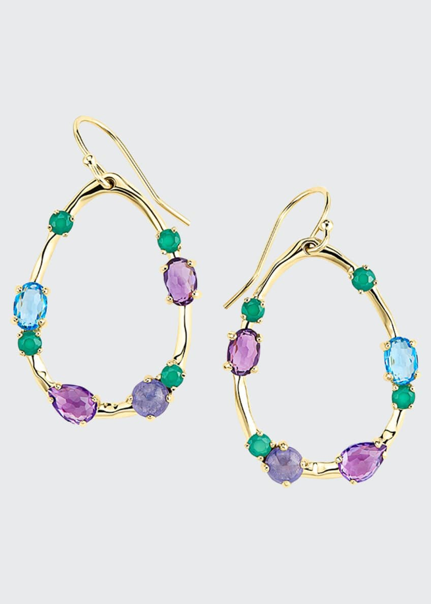 Ippolita 18K Rock Candy Medium Frame Earrings in