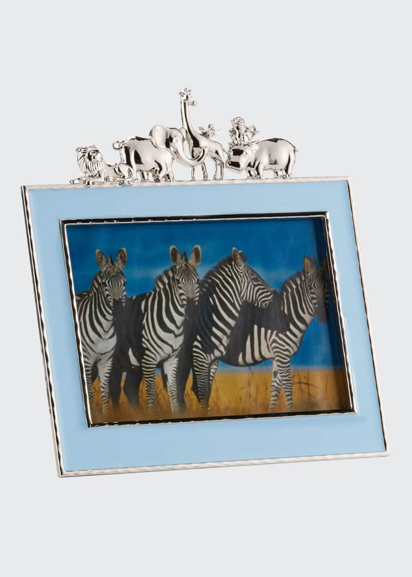 "Image 1 of 1: Boys' Animals 5"" x 7"" Picture Frame, Blue"