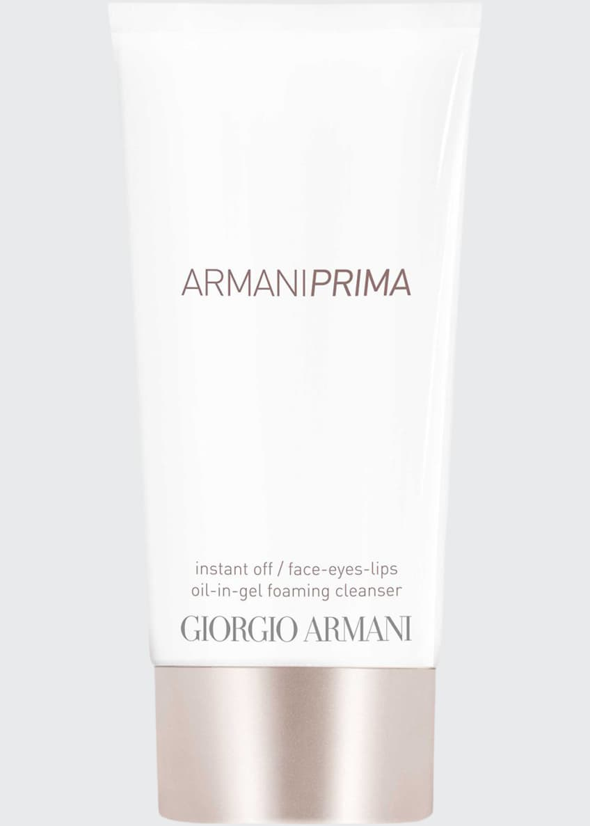 Image 1 of 1: Armani Prima Oil-in-Gel Instant Off Face & Eyes & Lips Foaming Cleanser