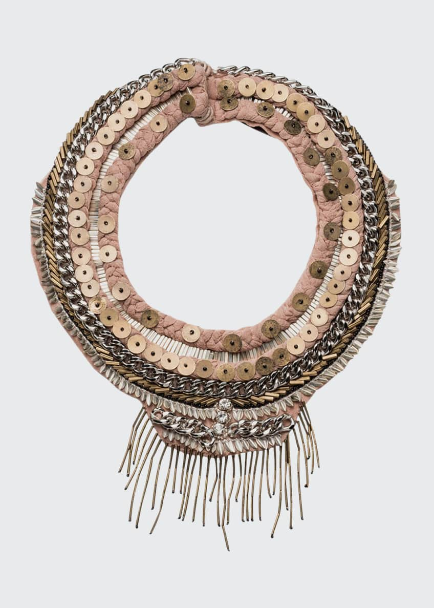 Image 1 of 1: Petite Layne Beaded Necklace, Nude