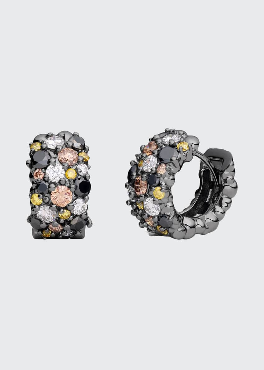 Paul Morelli Confetti 18k Black Gold Diamond Snap