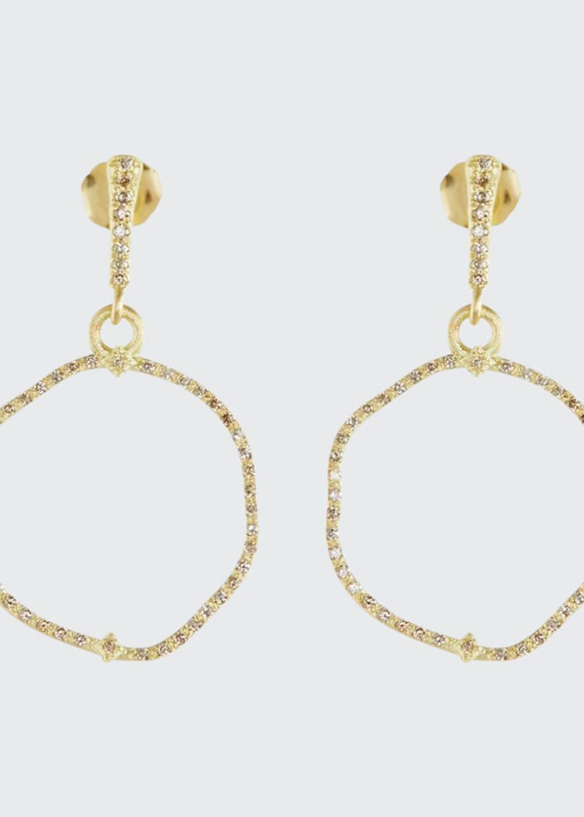 Image 1 of 2: Old Word Sueno Wavy Circle Earrings with Diamonds