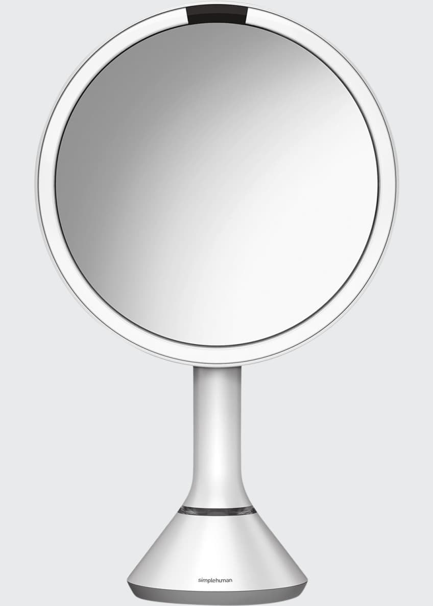 "Image 1 of 4: 8"" Sensor Makeup Mirror with Brightness Control, White"