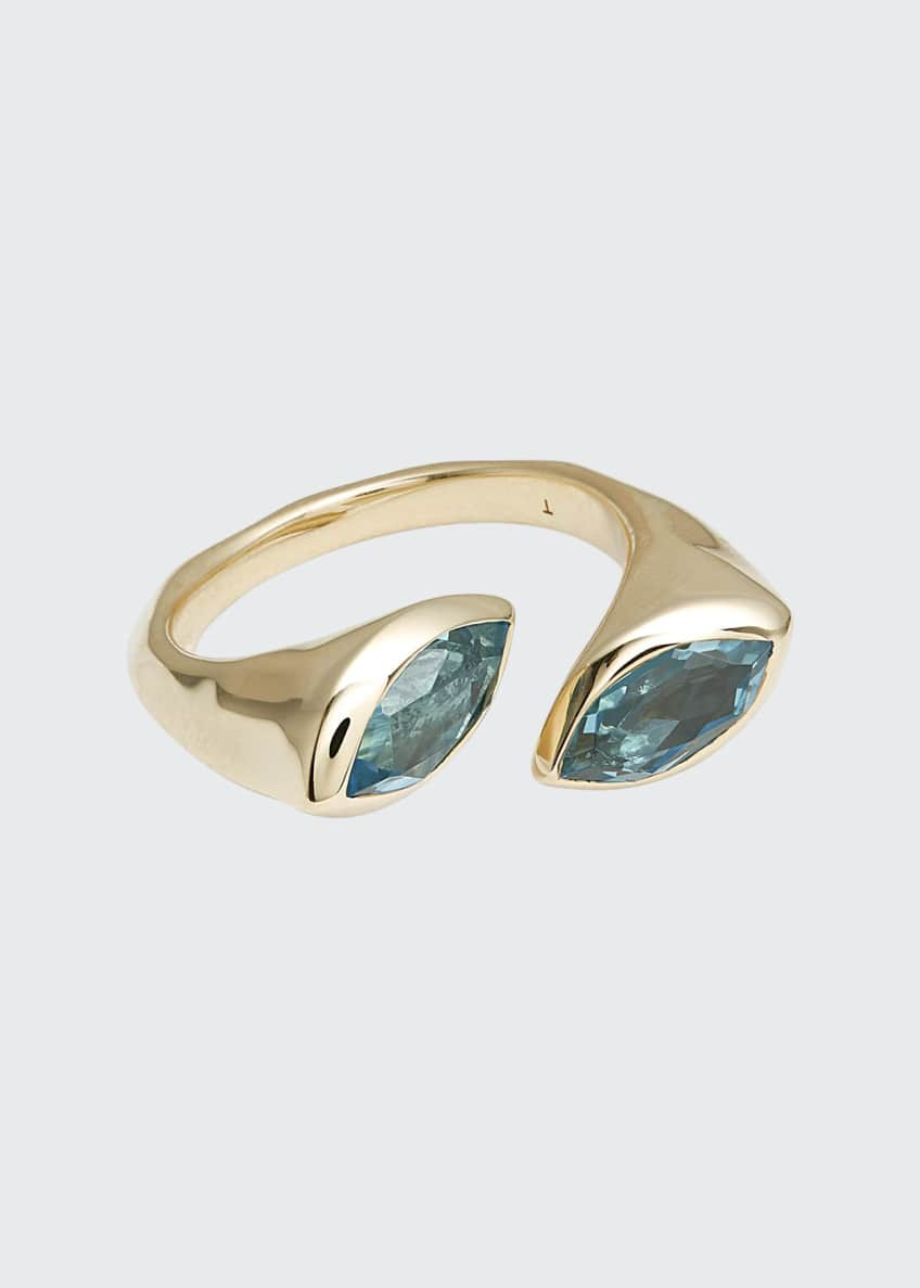 Image 1 of 1: 18k Prisma Bypass Marquise Ring