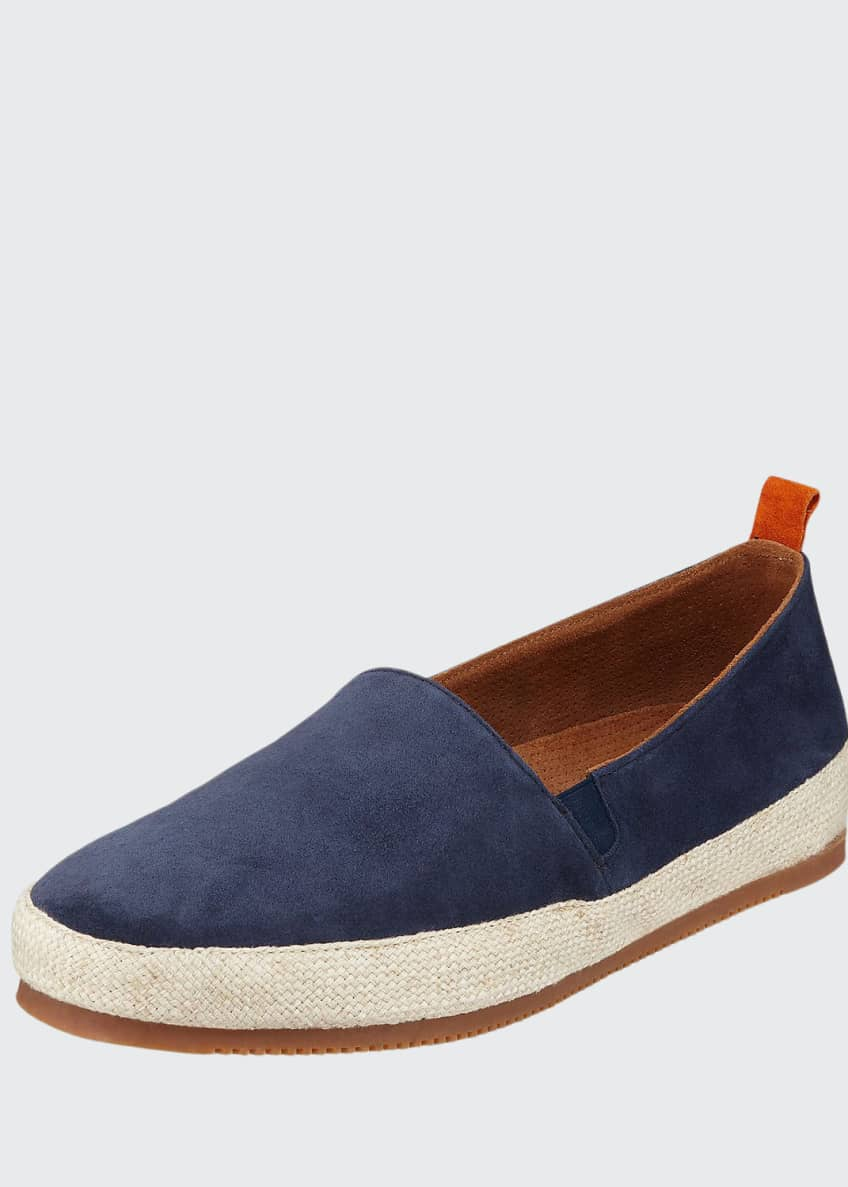 Image 1 of 4: Men's Suede Espadrille